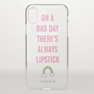 Cute Lipstick Quote Girly iPhone X Case
