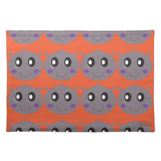 Cute litle Hippos on Orange Placemat