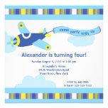 Cute Little Aeroplane Birthday Party Invitation