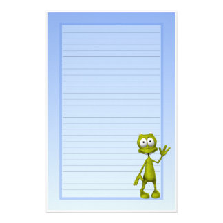 Cute Little Alien Kids Stationery