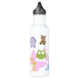 Cute Little Animals and butterflies 710 Ml Water Bottle