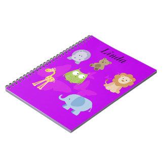 Cute Little Animals and butterflies Notebook