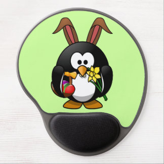 Cute little animated Easter penguin Gel Mouse Pad