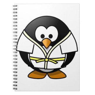 Cute little animated judo penguin notebooks