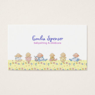 Cute Little Babies Babysitting & Child Care Card