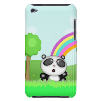 Cute Little Baby Panda Bear Cartoon Animal Barely There iPod Cases