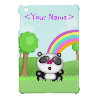 Cute Little Baby Panda Bear Cartoon Animal Cover For The iPad Mini