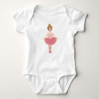 Cute Little Ballerina monogram Baby Bodysuit