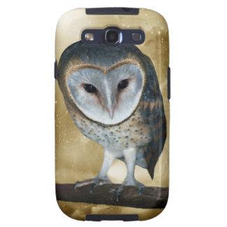 Cute little Barn Owl fantasy Samsung Galaxy S3 Cases