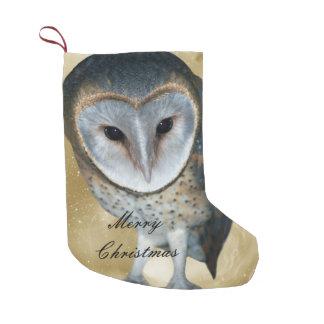 Cute little Barn Owl fantasy Small Christmas Stocking