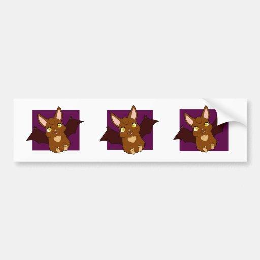 Cute little bat bumper stickers