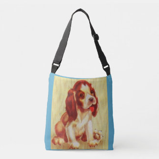 cute little beagle puppy crossbody bag