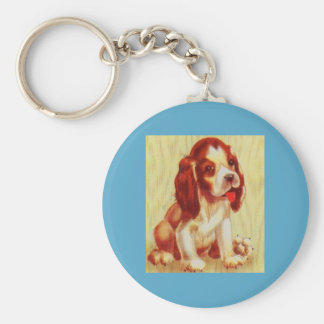 cute little beagle puppy key ring