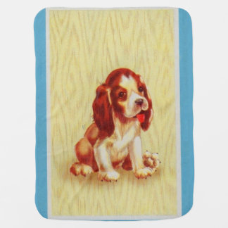 cute little beagle puppy print baby blanket
