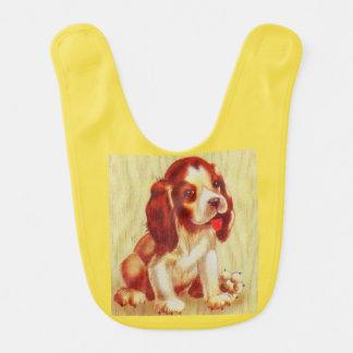 cute little beagle puppy print bib