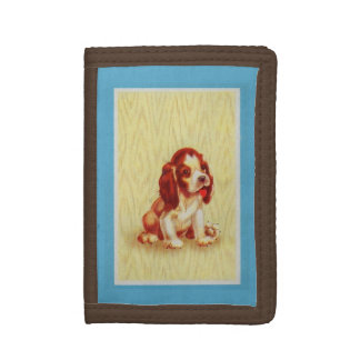 cute little beagle puppy trifold wallet