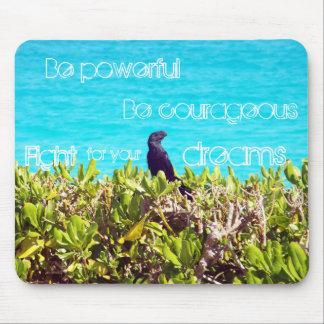Cute Little Black Bird Mouse Pad