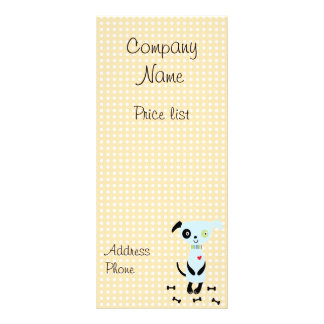 Cute Little Blue Dog Price Cards