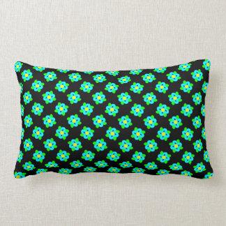 Cute Little Blue Flowers Pattern Lumbar Cushion