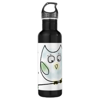 Cute Little Blue Owl 710 Ml Water Bottle