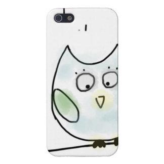 Cute Little Blue Owl iPhone 5 Cases