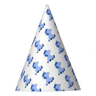 Cute Little Blue Unicorn Party Hat