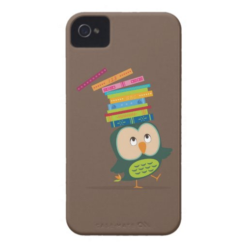 Cute little book owl iPhone 4 covers