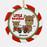 Cute Little Brother & big Bro Christmas Ornament