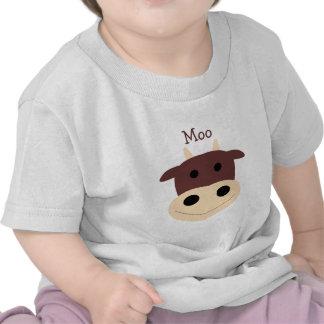 Cute little brown cow infant tshirt