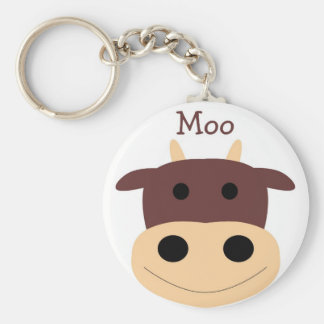 Cute little brown cow keychain