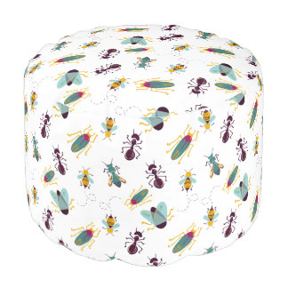 cute little bugs insects pouf