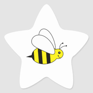 Cute Little Bumble Bee Honey Farm Star Sticker