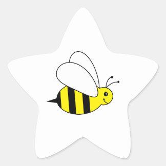 Cute Little Bumble Bee Honey Farm Star Sticker