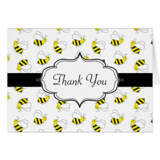 Cute Little Bumble Bee Pattern Card