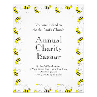 Cute Little Bumble Bee Pattern Flyer