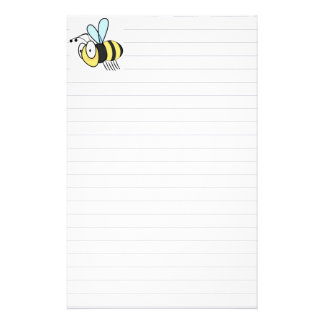 Cute Little Cartoon Bumble Bee Stationary Stationery Design