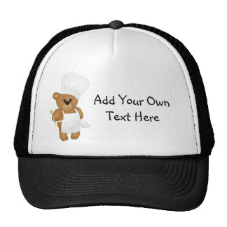 Cute Little Chef Costume Teddy Bear Cartoon Cap