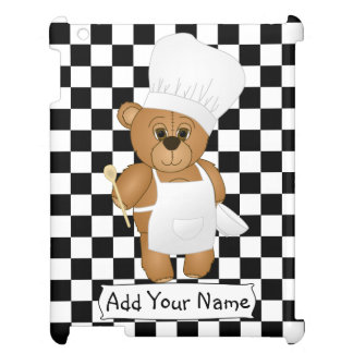 Cute Little Chef Costume Teddy Bear Cartoon Cover For The iPad