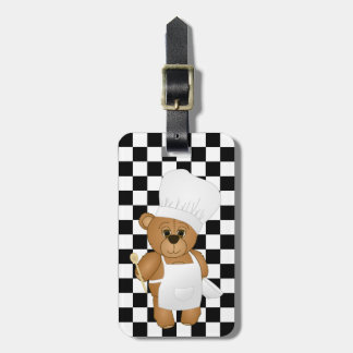 Cute Little Chef Costume Teddy Bear Cartoon Luggage Tag