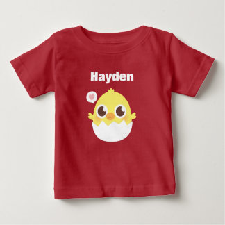 Cute Little Chick Hatching From Egg Baby Tee