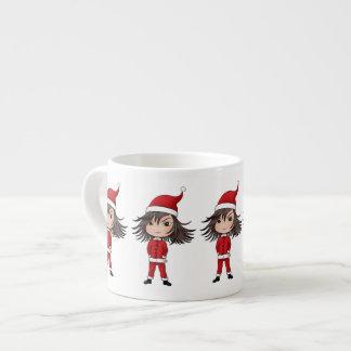 Cute little Christmas elf chibi Espresso Mug