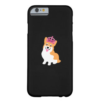 Cute Little Corgi Princess Wearing a Pink Crown Barely There iPhone 6 Case