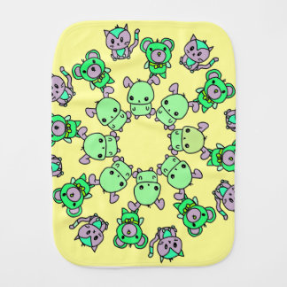 cute little creatures burp cloth