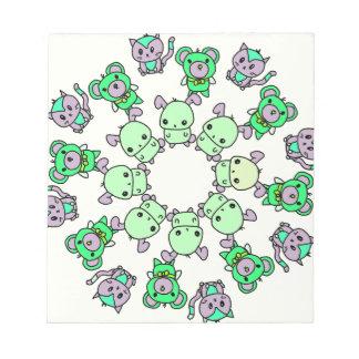 cute little creatures notepad