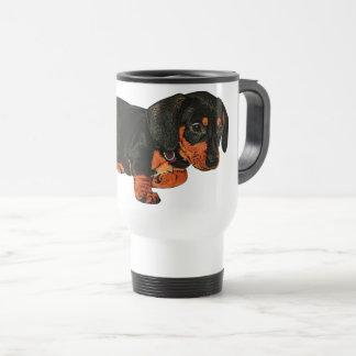Cute Little Dachshund Design Travel Mug