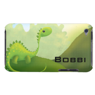cute little dino dinosaur personalize with name Case-Mate iPod touch case
