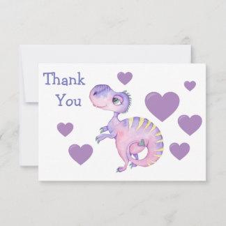Cute Little Dinosaur Thank You Card