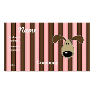 Cute Little Doggy Face Double-Sided Standard Business Cards (Pack Of 100)