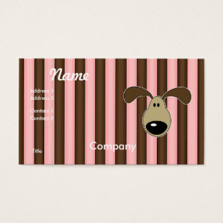 Cute Little Doggy Face Business Card
