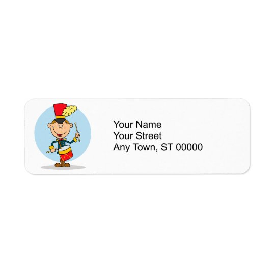 cute little drummer boy return address label